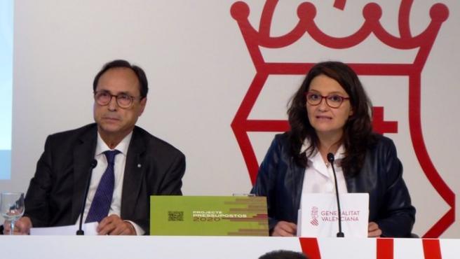 Soler y Oltra presentan los presupuestos de 2020