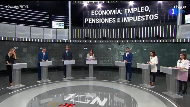 Debate a siete en RTVE.
