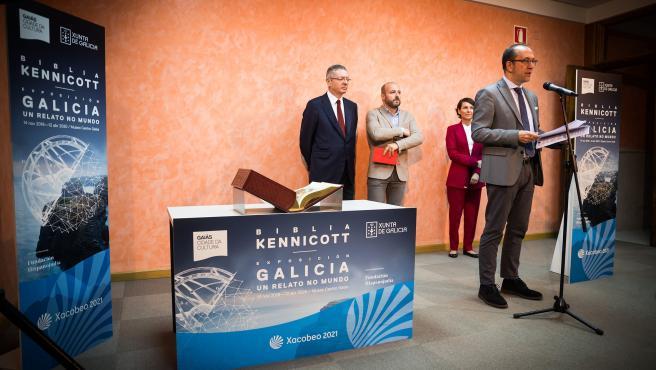 Acto de presentación da Biblia Kennicott no Arquivo do Reino de Galicia. 14/10/19