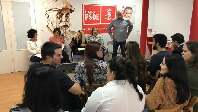 Acto del PSOE de La Rioja en Haro