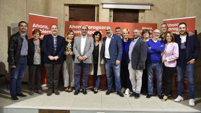 Acto electoral de los socialistas aragoneses en La Almunia.