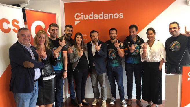 Ciudadanos Galicia después de reunirse con el Sindicato Unificado de Policía y la asociación de Justicial Salarial Policial