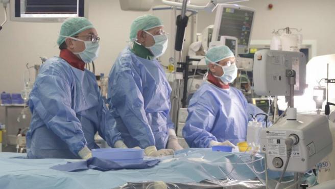 Imagen de una operación realizada en el hospital Niguarda de Milán (Italia).