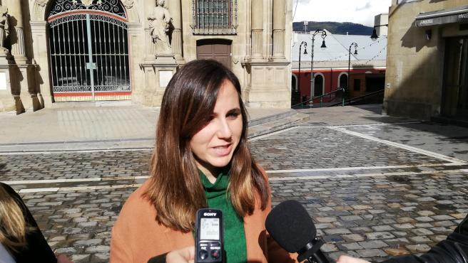 Ione Belarra, candidata de Unidas Podemos al Congreso por Navarra