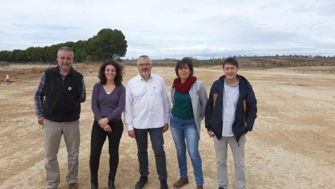José Ramón Ceresuela, Laura Climente, Salvador Ariste, Bea Gual y Juan Carlos Jiménez en Almudévar.