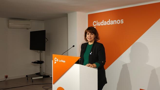 La candidata de CS La Rioja al Congreso, María Luisa Alonso