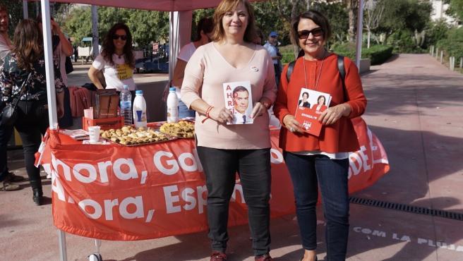 La candidata del PSOE al Congreso por Ibiza y Formentera, Sofía Hernanz, y la candidata al Senado, Patricia Abascal.