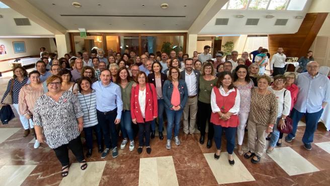 La ministra de Industria, Comercio y Turismo en funciones, Reyes Maroto, ha participado este sábado en un acto de campaña en Menorca.
