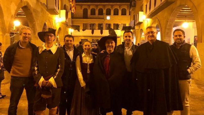 Los candiatos del PP por la provincia de Teruel en la Fiesta de la Villa de Alcorisa.
