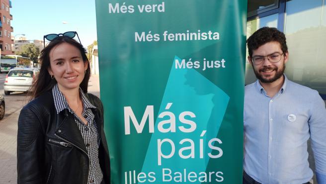 Los candidatos número uno y dos de la lista de Más País Baleares al Congreso de los Diputados, Marisa Lucas y Andreu Fullana