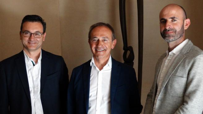 Los diputados del Grupo Aragonés (PAR) en la DPH.