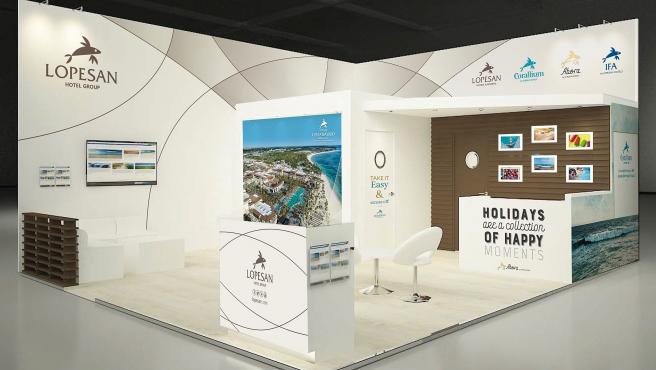 Stand de Lopesan en la World Travel Market de Londres