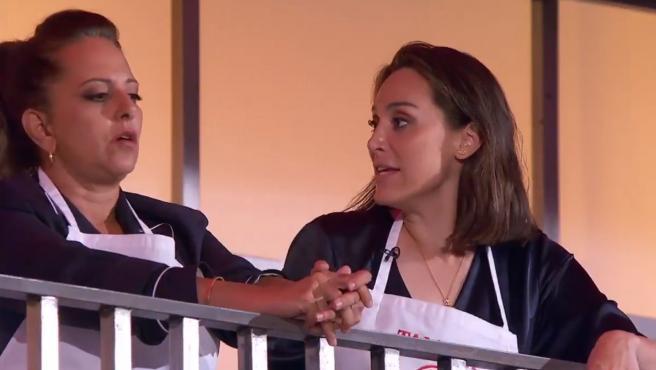 Yolanda Ramos y Tamara Falcó, durante el programa 'MasterChef Celebrity'.