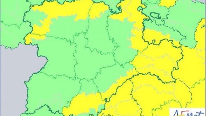 Activada la alerta amarilla por rachas de hasta 90 kilómetros por hora en siete provincias de CyL