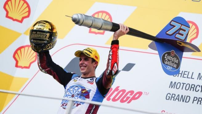 El piloto español Àlex Márquez (Estrella Galicia 0,0 Marc VDS), campeón del mundo de Moto2