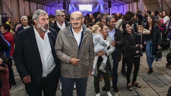 Fernando Fernández, José María Mazón y Miguel Ángel Revilla en un acto electoral en Noja