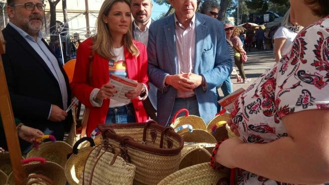 La número dos de Ciudadanos Baleares al Congreso de los Diputados, Patricia Guasp, en su visita a la 'Fira de la Tardor de Marratxí'