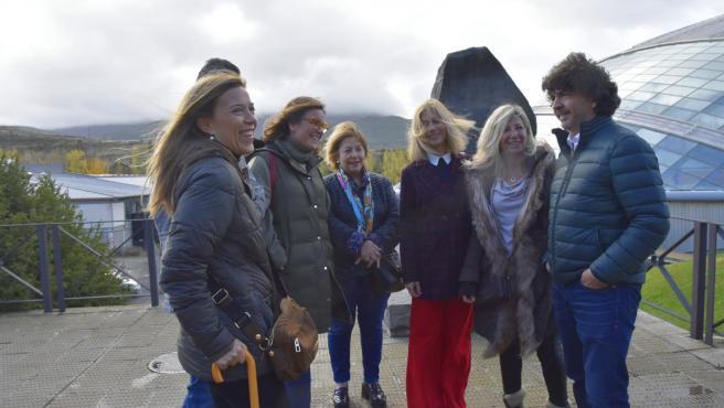Mario Garcés en el acto de campaña de este domingo en Jaca (Huesca).