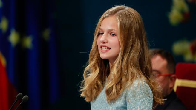 La princesa Leonor, en la pasada edición de los Premios Princesa de Asturias.