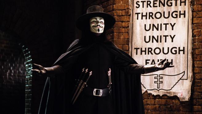 Recurso de V de Vendetta, película que popularizó la máscara de Guy Fawkes.