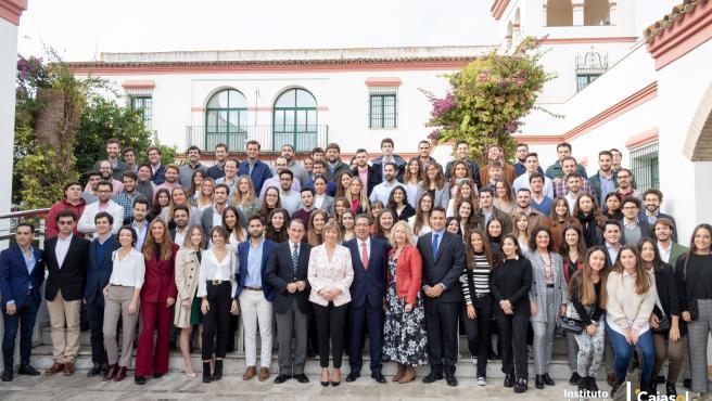 Acto de apertura con estudiantes del curso académico 2019-2020 del Instituto de Estudios Cajasol de Tomares