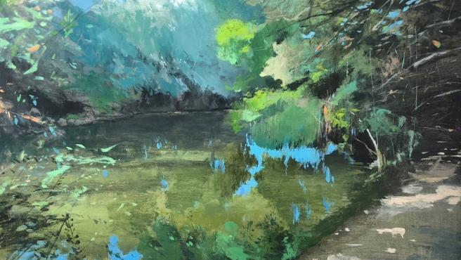 El primer premio de los XVI certamen de Pintura al Aire Libre de Alcalá de Guadaíra