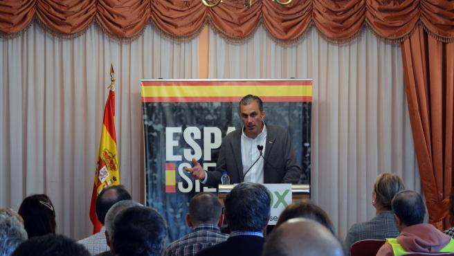 El secretario general de Vox, Javier Ortega Smith, en Ourense.