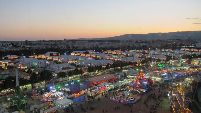 Imagen de la Feria de Córdoba vista desde la noria