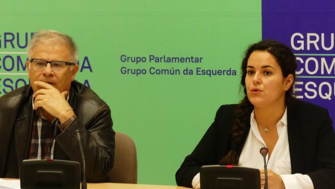 Manolo Lago y Luca Chao, del Grupo Común da Esquerda