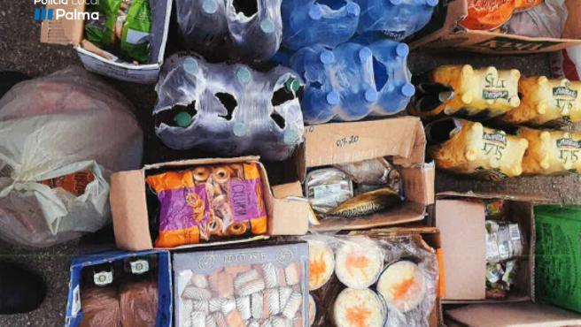 Mercancías intervenidas de venta ambulante en Palma