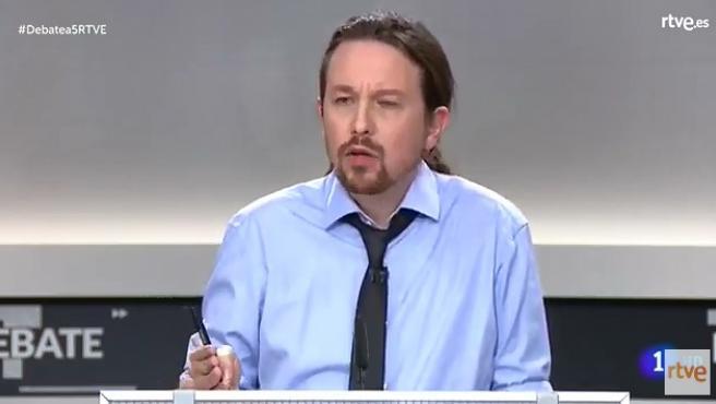 Pablo Iglesias durante el debate electoral previo al 10-N.