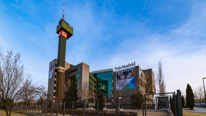 El edificio sede de Telemadrid.