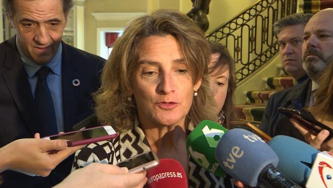 "Teresa Ribera asegura que afrontan la Cumbre del Clima con ""mucha ilusión"""