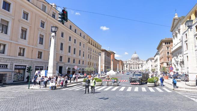 Una imagen de la Via della Conciliazione, en Roma.