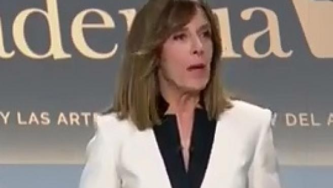 Ana Blanco en el debate electoral previo al 10 de noviembre.
