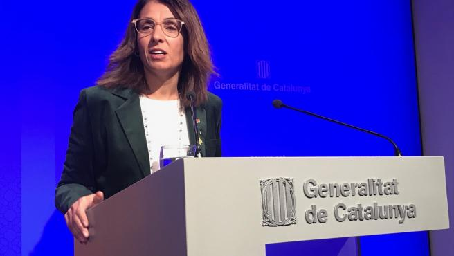La consellera de Presidencia de la Generalitat, Meritxell Budó.