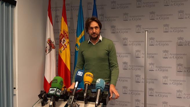 Alberto Ferrao, concejal de Educación y Cultura del Ayuntamiento de Gijón