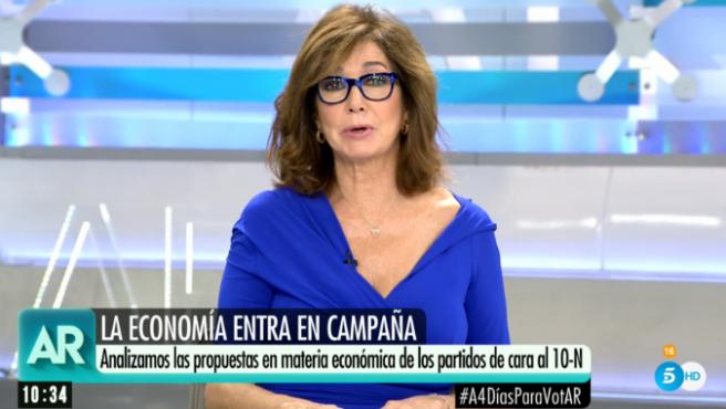 Ana Rosa comenta las propuesta de esta campaña electoral.