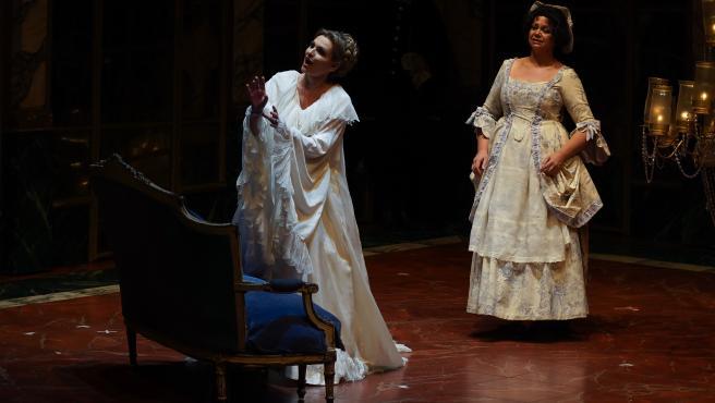 Ensayo general de la Ópera ANDREA CHÉNIER de Umberto Giordano en el Teatro de la Maestranaza con Ainhoa Arteta