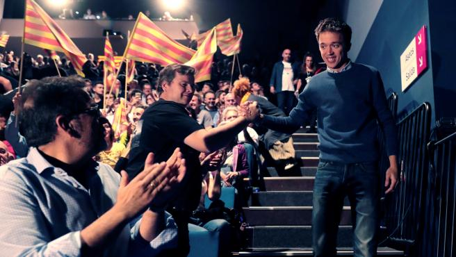 Íñigo Errejón en un acto de campaña en Zaragoza