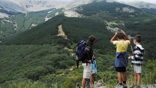 Excursionistas, senderismo, montaña, montañas, excursión
