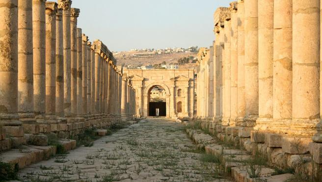 Imagen de las ruinas romanas de Gerasa (Jordania)