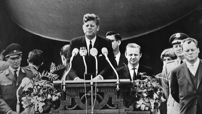 Kennedy, en su discurso en Berlín en 1963