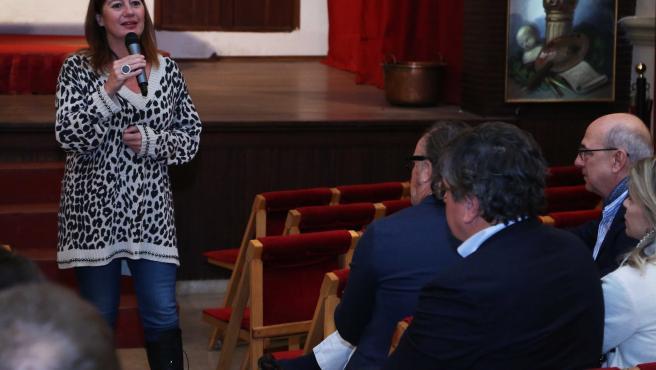 La preisdenta del Govern, Francina Armengol, asiste a la presentación del audiovisual Phantasia sobre la Cartuja de Valldemossa