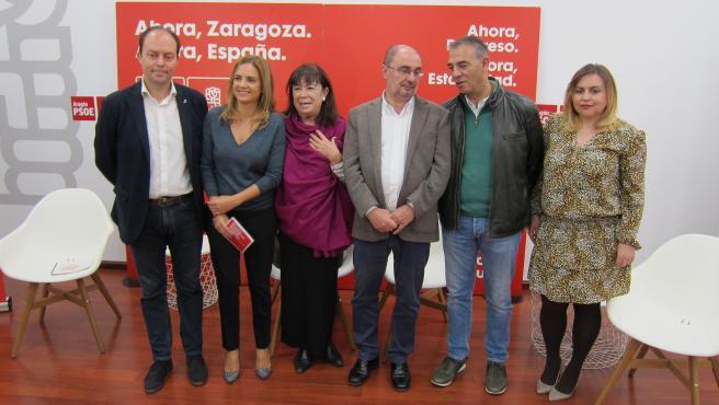 La presidenta del PSOE, Cristina Narbona, presenta en Zaragoza el programa electoral del PSOE para el 10N.