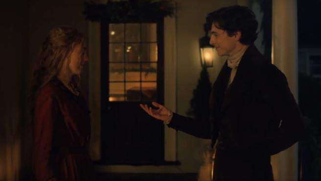 'Mujercitas': Saoirse Ronan y Timothée Chalamet bailan en esta escena de la película