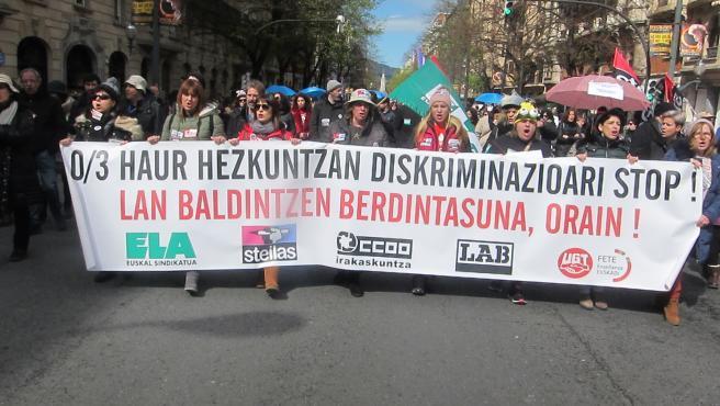 Manifestación en la red concertada vasca