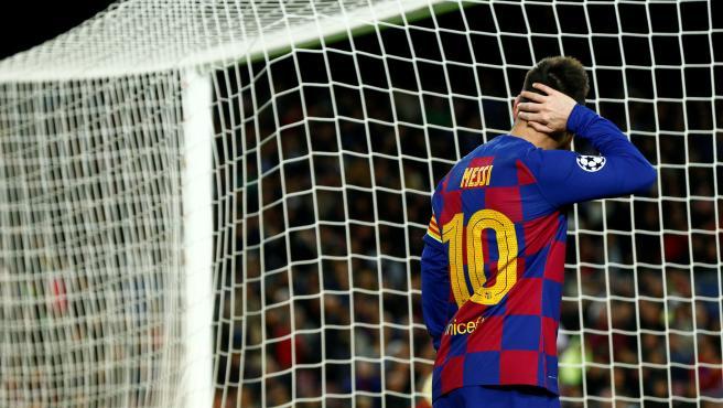 Leo Messi, en Champions