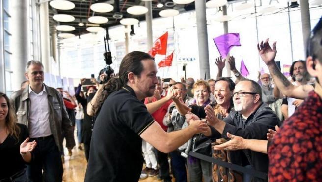 Pablo Iglesias interviene en un acto en València