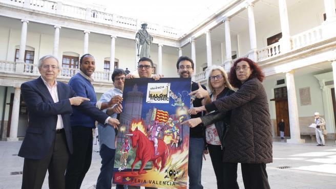 Presentación del cartel oficial del Salón del Cómic creado por Salva Espín